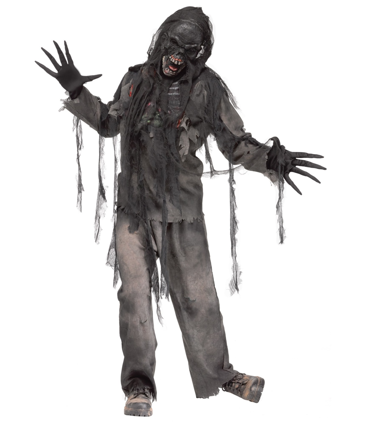 burning zombie mens costume scary costumes - Halloween Costumes Of Zombies