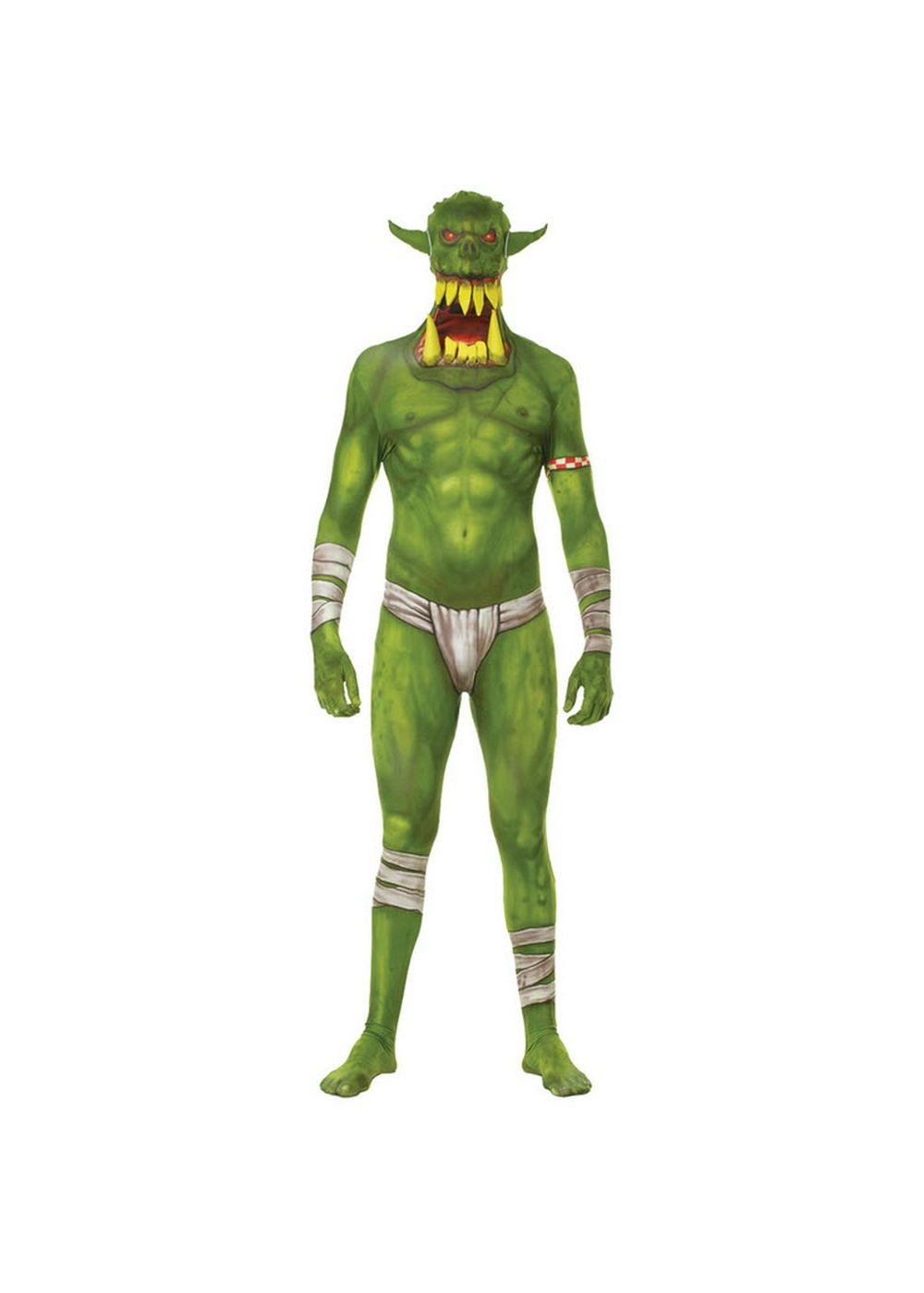 Green Orc Jaw Dropper Men Costume Scary Costumes