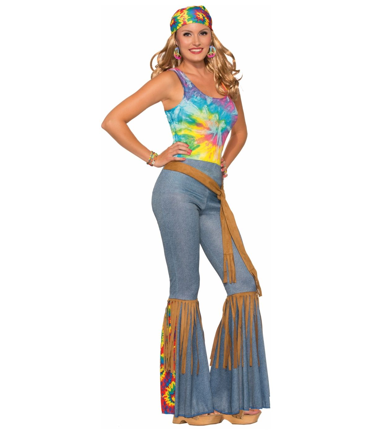 1960s Sexy Bell bottom Women Hippie Pants - Hippie costumes