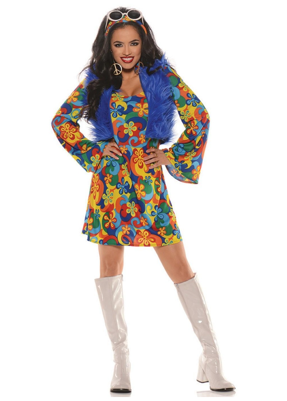 Groovy Gal Disco Hippie Womens Costume Costumes