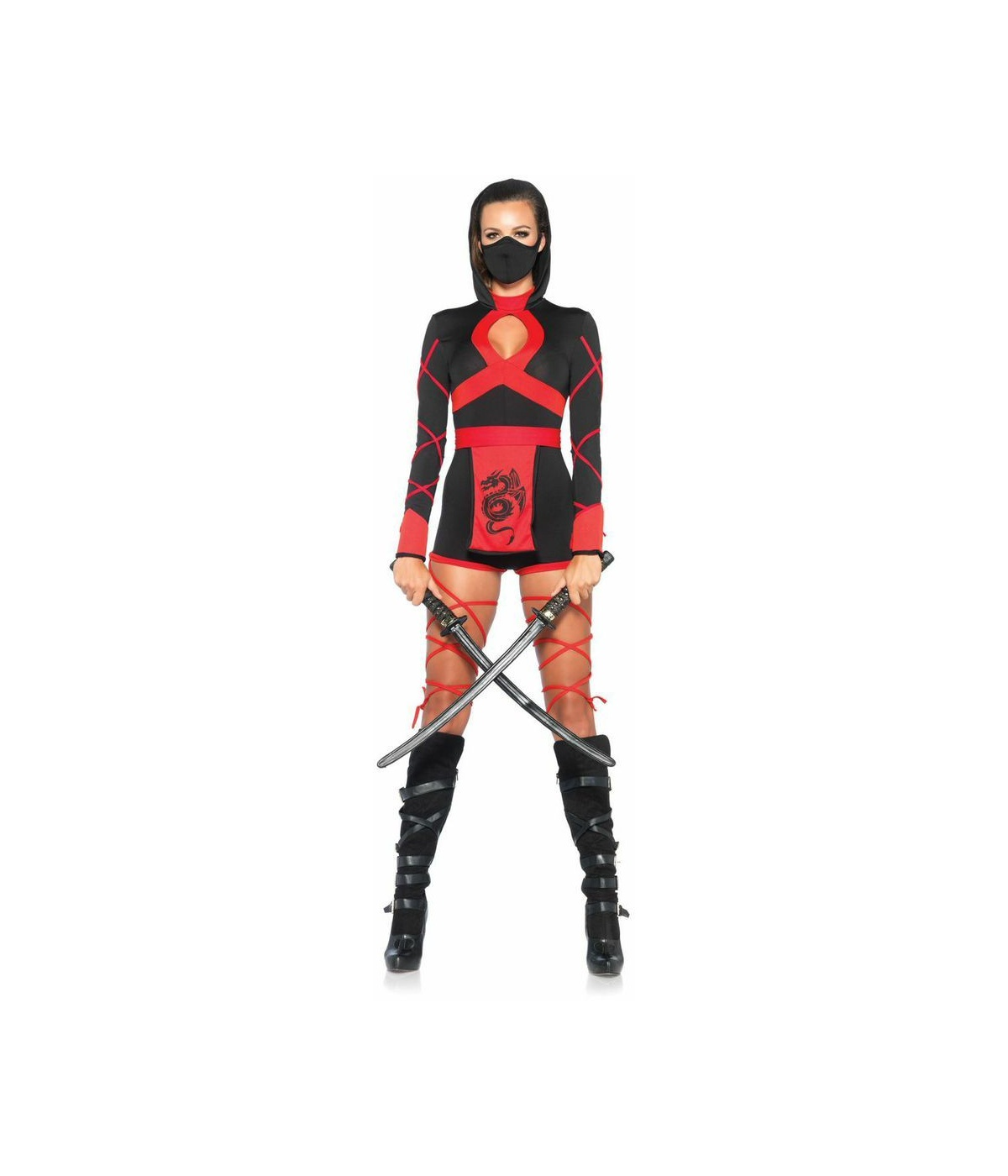 fiery dragon womens ninja costume sexy costume. Black Bedroom Furniture Sets. Home Design Ideas