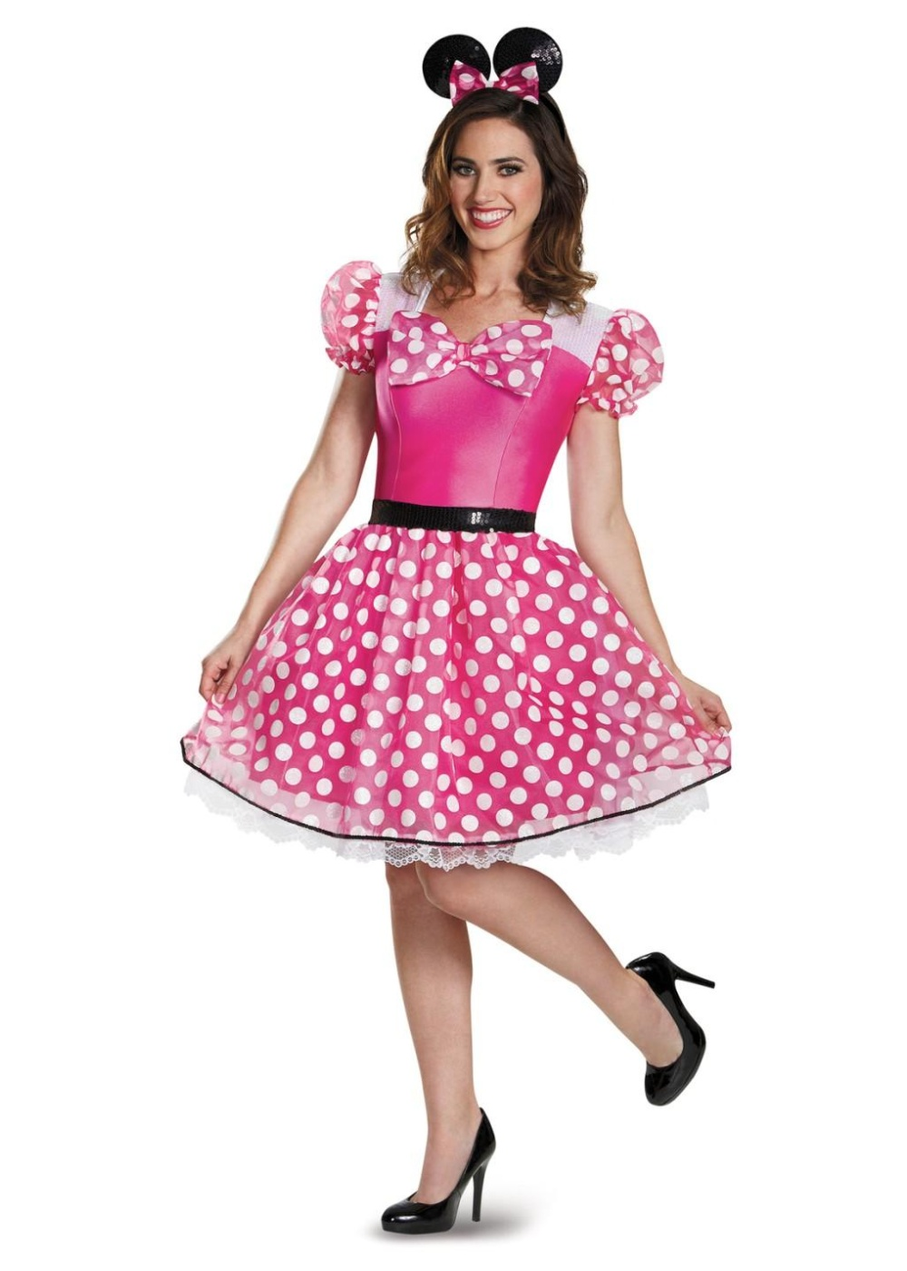 polka dot minnie mouse pink glam womens costume tv show. Black Bedroom Furniture Sets. Home Design Ideas