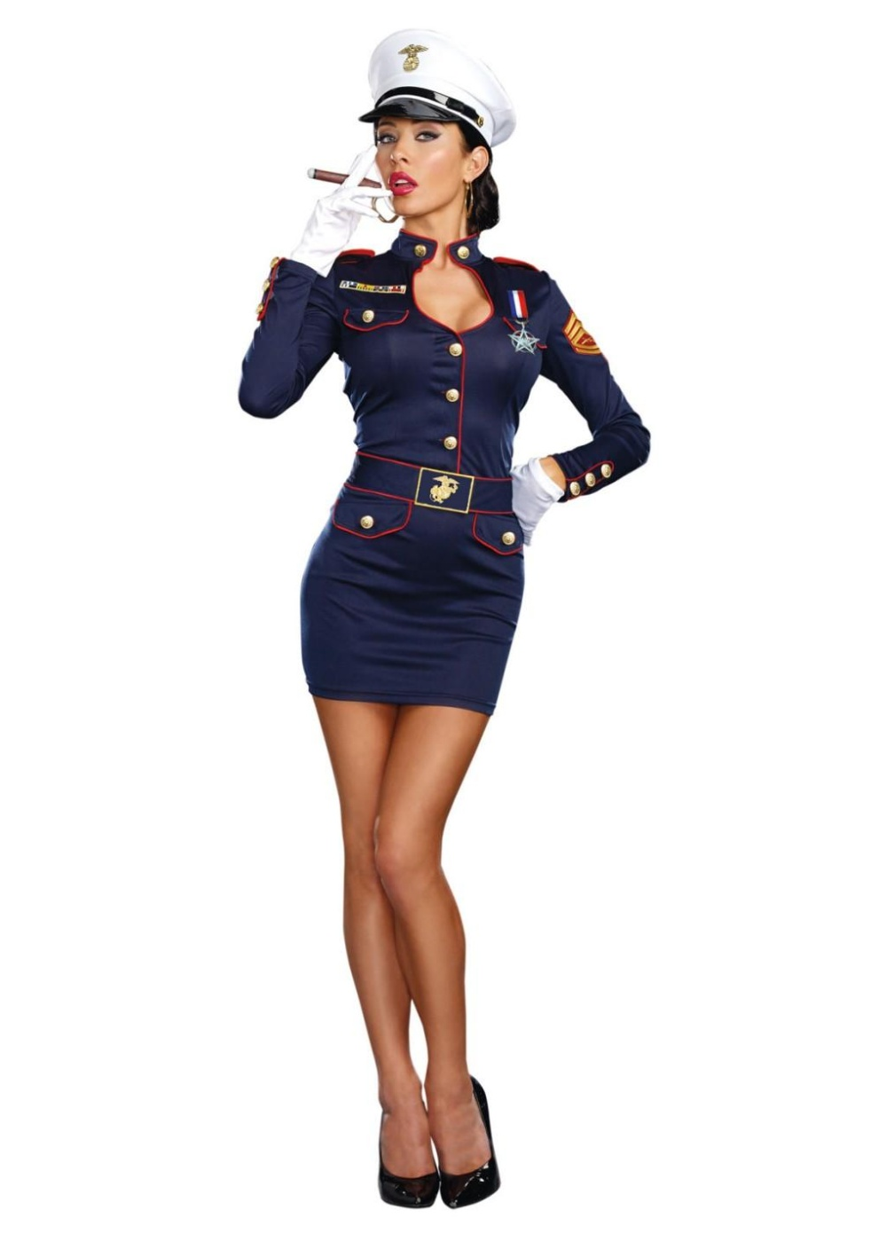 Sexy Military Captain Womens Costume Sexy Costumes