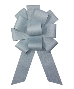 25 inch Diamond Light Blue Bow