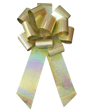 25 inch Gold Holographic Bow