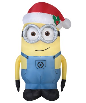 Airblown Minion Santa Dave Decoration