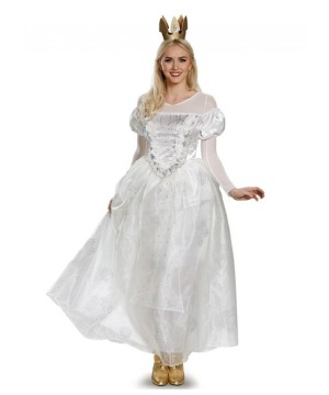 Alice Through the Looking Glass White Queen Women Costume