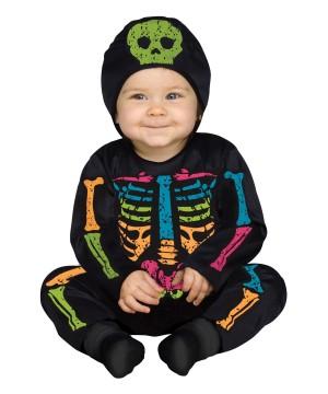 Baby Bones Skeleton Rainbow Color Costume