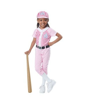 Baseball Player Baby Girls Toddler Costume