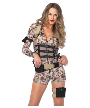 Battlefield Babe Romper Women Costume