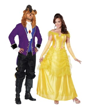 Beauty and the Beast Xlarge Couple Costume Kit