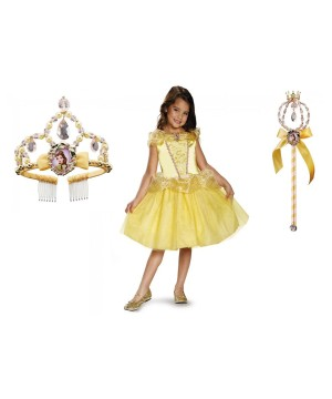 Belle Costume Wand and Tiara Kit