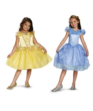 Belle and Cinderella Girls Costumes