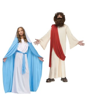Biblical Jesus Boys and Virgin Mary Girls Costumes