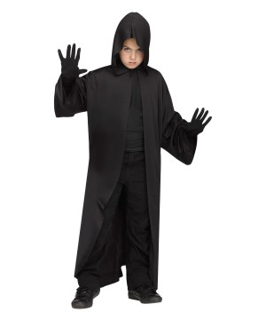 Boys Black Hooded Robe