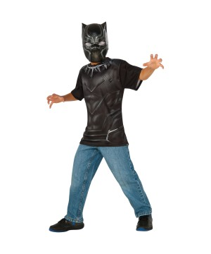 Black Panther Shirt and Mask Boys Set