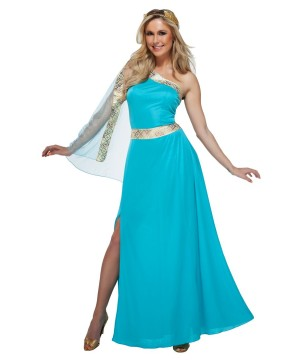 Blue Goddess Women Costume