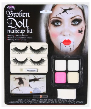 Broken Doll Face Makeup