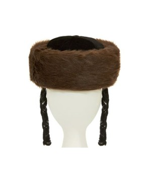 Low Brown Shtrimel Hat
