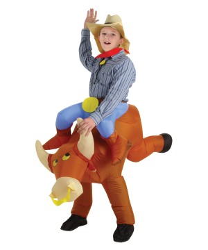 Bull Rider Inflatable Boys Costume