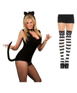 Cat Costume Set With Pantyhose