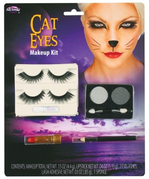 Cat Eye Makeup With Lashes