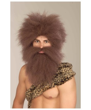 Caveman Wig and Beard Costume Kit