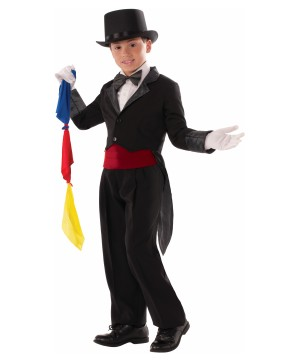 Magician Tailcoat and Scarves Boys Costume