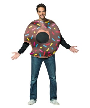 Chocolate Doughnut With Bite Costume