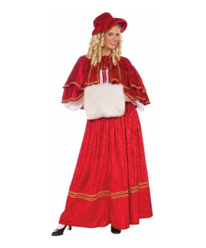 Christmas Caroler Women Costume