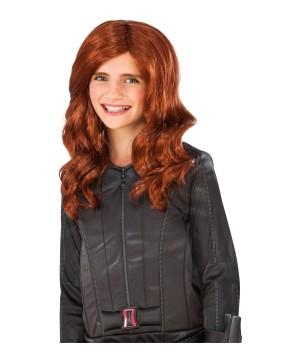Civil War Black Widow Girls Wig