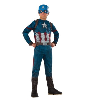 Civil War Captain America Boys Costume