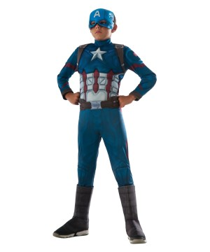 Civil War Captain America deluxe Boys Costume