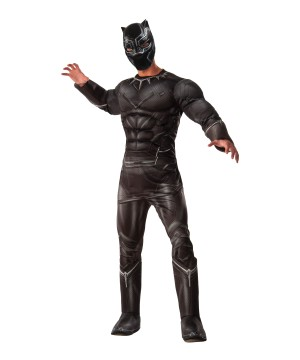 Civil War deluxe Black Panther Men Costume