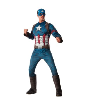 Civil War deluxe Captain America Men Costume