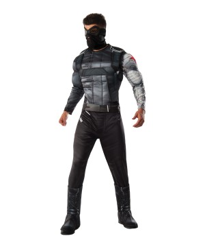 Civil War deluxe Winter Soldier Men Costume