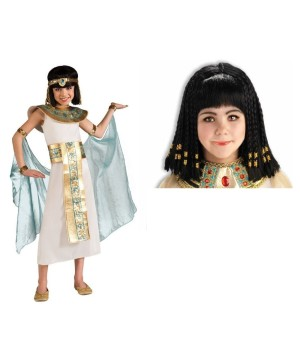 Cleopatra Girls Costume and Wig Kit