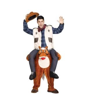 Cowboy Riding on Shoulder Men Costume