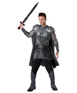 Dark Medieval Knight Men Costume