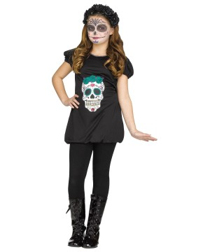 Day of the Dead Girls Romper