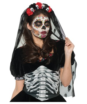 Day of the Dead Mantilla for Women