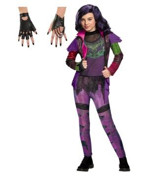 Descendants Mal Girls Costume and Gloves Set