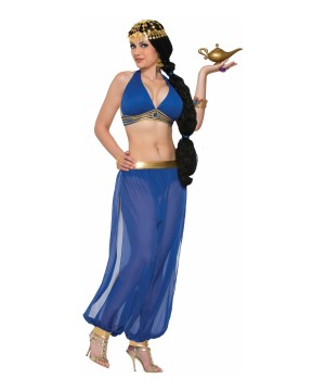 Desert Princess Dancer Blue Women Costume