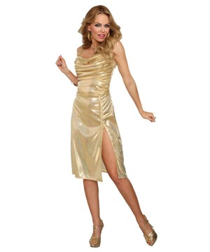 Disco Inferno Golden 70s Womens Costume