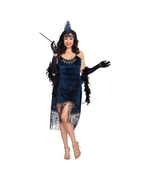 Downton Doll Flapper plus size Women Costume