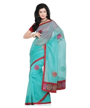 Ethnic Rajasthani Indian Saree With Resham Design