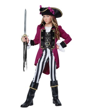 Fashion Pirate Tween Girls Costume