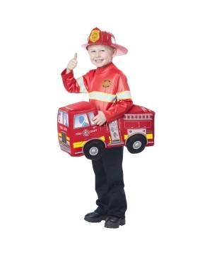 Firetruck Hero Rider Boys Costume
