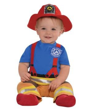 Baby Boys First Fireman Costume
