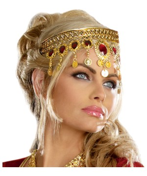 Gold Dripping Rubies Headpiece